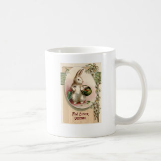 Easter Bunny Egg Umbrella Lily Basket Carrot Basic White Mug