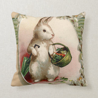 Easter Bunny Egg Umbrella Lily Basket Carrot Cushion