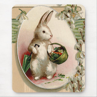 Easter Bunny Egg Umbrella Lily Basket Carrot Mouse Mat