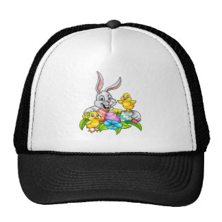 Easter Bunny Eggs and Chicks Cap