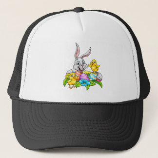 Easter Bunny Eggs and Chicks Trucker Hat