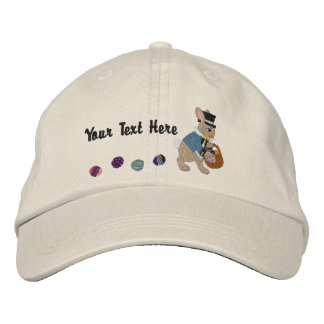 Easter Bunny & Eggs Embroidered Hat