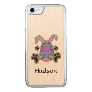 Easter Bunny Escapes from Colorful Easter Egg Carved iPhone 8/7 Case