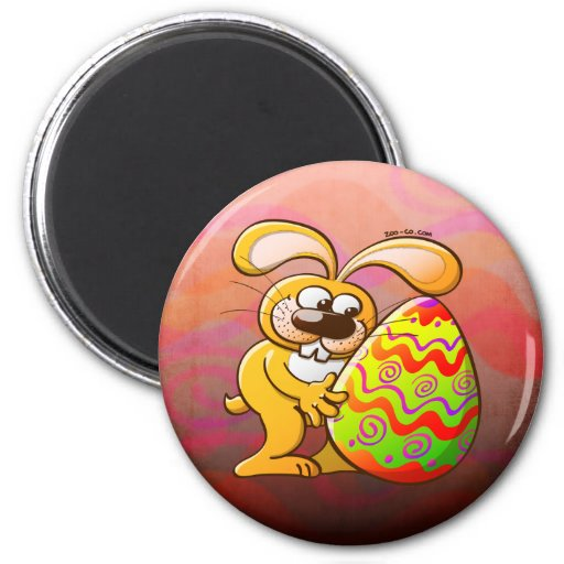 Easter Bunny Falling in Love Magnet