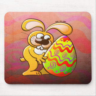 Easter Bunny Falling in Love Mousepad