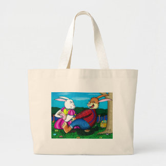 Easter Bunny Foot Tickle Canvas Bags