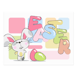 Easter Bunny Greeting Postcard