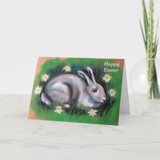 Easter bunny happy easter holiday card