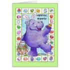 Easter Bunny Hippo Card