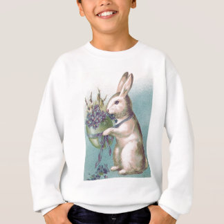 Easter Bunny Holding Colored Egg Sweatshirt