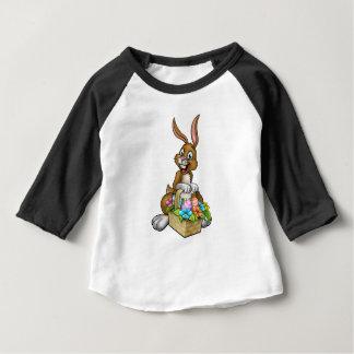 Easter Bunny Holding Egg Hunt Basket Baby T-Shirt