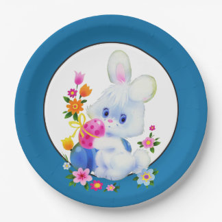 Easter Bunny Holiday party paper plate 9 Inch Paper Plate
