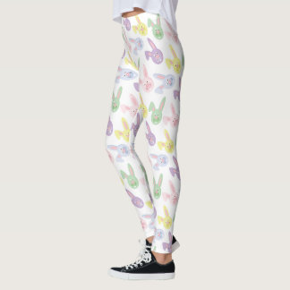 Easter Bunny Holiday pattern womens leggings