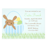 Easter Bunny in a Basket Personalised Invites