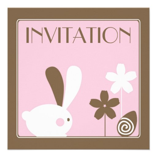 Easter Bunny Invitation Card