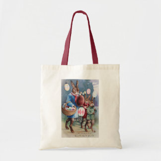 Easter Bunny Lantern Parade Antique Budget Tote Bag
