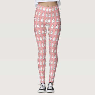 Easter Bunny Leggings Pink Easter Legging Pants