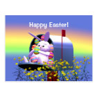 Easter Bunny Mail Postcard