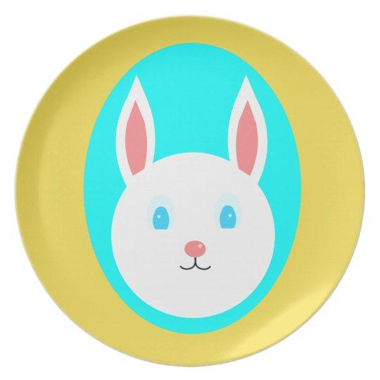 Easter Bunny Melamine Plate