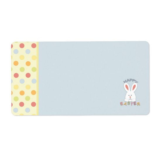 Easter Bunny Name Tag B Shipping Label