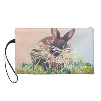 Easter Bunny or Nest Making Rabbit - Happy Easter Wristlet