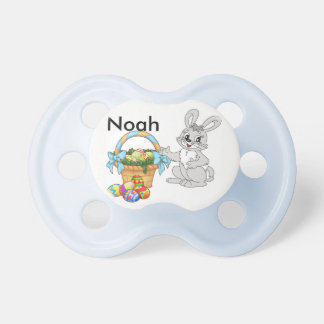 Easter Bunny Pacifier Baby's NAME