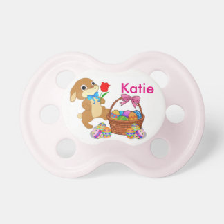 Easter Bunny Pacifier Baby's NAME Girl