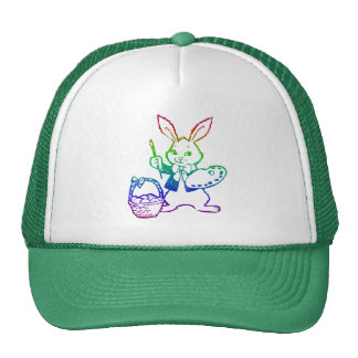 Easter Bunny painting an egg Cap