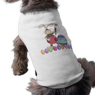 Easter Bunny Painting Eggs Dog Shirt