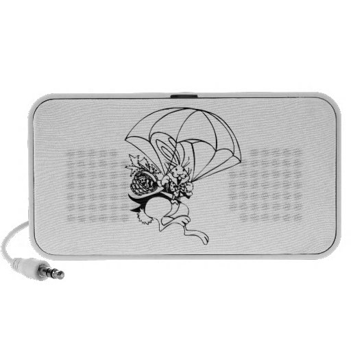 Easter Bunny Parachuting with Basket Mp3 Speaker