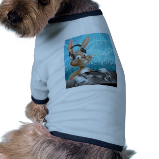 Easter Bunny Party DJ Ringer Dog Shirt