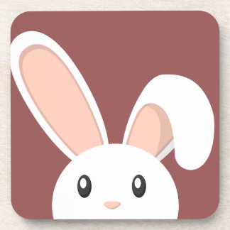 Easter Bunny peeping Drink Coaster