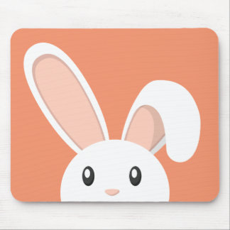 Easter Bunny peeping Mouse Mat