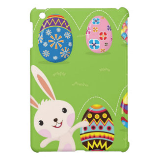Easter bunny playful with painted eggs iPad mini covers