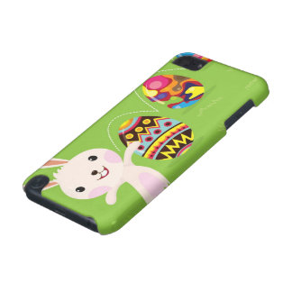 Easter bunny playful with painted eggs iPod touch (5th generation) cases