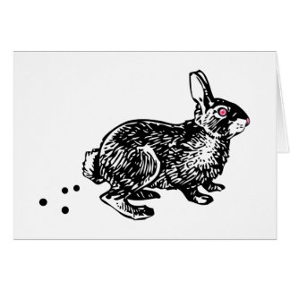 Easter Bunny Poo Greeting Cards
