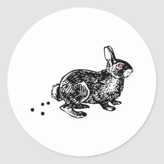 Easter Bunny Poo Round Sticker