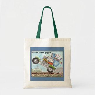 Easter Bunny Poppin' Wheelies Canvas Bags