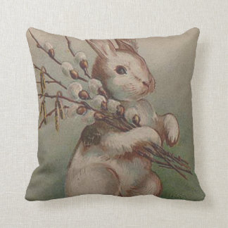 Easter Bunny Pussy Willow Cushion
