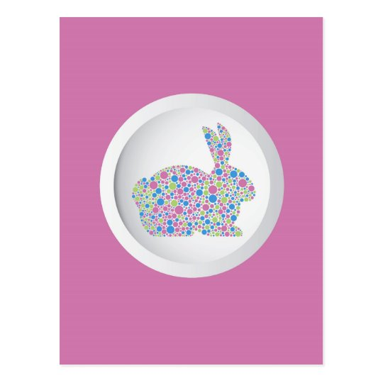 Easter Bunny Rabbit Postcard