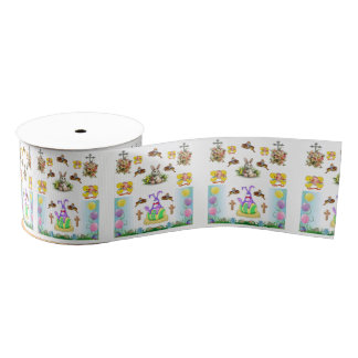easter bunny rabbit ribbon grosgrain ribbon