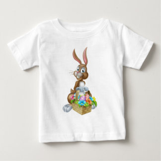 Easter Bunny Rabbit with Eggs Hamper Basket Baby T-Shirt