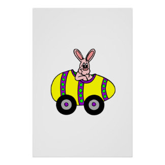 Easter Bunny Racer Poster