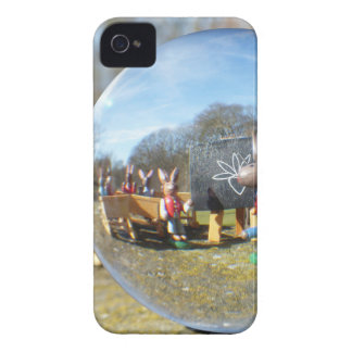 Easter Bunny school seen through the glass ball iPhone 4 Cases