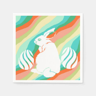 Easter Bunny Spring Abstract Pattern Disposable Serviette