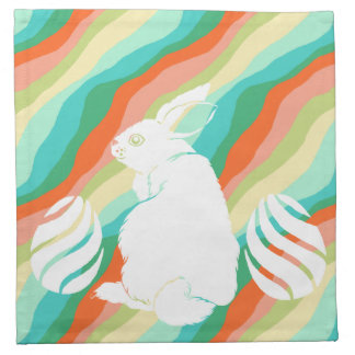 Easter Bunny Spring Abstract Pattern Napkin