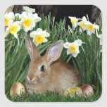 Easter Bunny Square Stickers