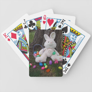 Easter Bunny Taking A Break Bicycle Playing Cards