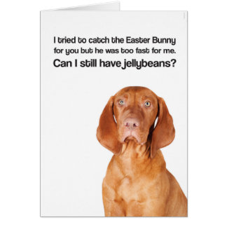 Easter Bunny Was Too Fast (Vizsla) - Greeting Card