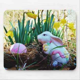 Easter Bunny with a pink egg Mouse Pad